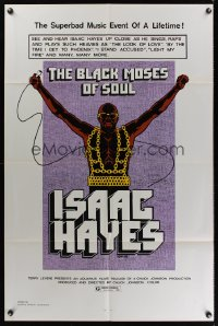 0887FF BLACK MOSES OF SOUL 1sh '73 Isaac Hayes, the superbad music event of a lifetime!