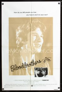 0674FF BLOODBROTHERS int'l 1sh '78 super early image of Richard Gere, from Richard Price novel!