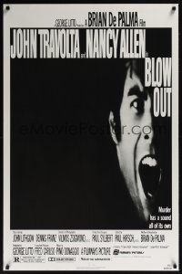 0068UF BLOW OUT 1sh '81 John Travolta, Brian De Palma, murder has a sound all of its own!