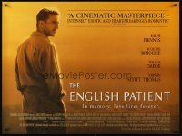 2487UF ENGLISH PATIENT British quad '96 Ralph Fiennes, Best Picture winner, by Anthony Minghella!
