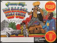 2488UF HARDER THEY COME British quad R77 Jimmy Cliff, Jamaican reggae music, artwork by John Bryant