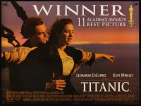 2494UF TITANIC DS British quad '97 DiCaprio, Kate Winslet, directed by James Cameron!