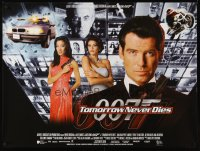 2495UF TOMORROW NEVER DIES DS British quad '97 super close Pierce Brosnan as James Bond 007!