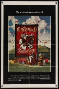 0895FF BRONCO BILLY 1sh '80 Clint Eastwood directs & stars, Roger Huyssen & Gerard Huerta art!