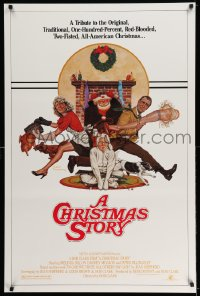 2073UF CHRISTMAS STORY studio style 1sh '83 best classic Christmas movie, art by Robert Tanenbaum!