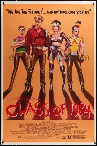 2078UF CLASS OF 1984 1sh '82 art of bad punk teens, we are the future & nothing can stop us!