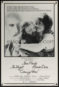 0088UF COMING HOME 1sh '78 Jane Fonda, Jon Voight, Bruce Dern, Hal Ashby, Vietnam veterans!