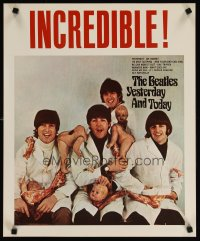 1669UF BEATLES commercial poster '80s Yesterday and Today, The Butcher Cover!