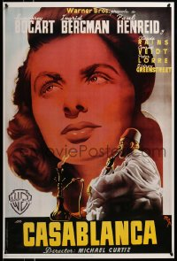 2448UF CASABLANCA 24x36 commercial poster '92 MCP art of Ingrid Bergman & guy smoking hookah!