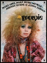 2472UF GROUPIE 22x29 Dutch commercial poster '69 Fabian's book, image of girl in wild make-up!
