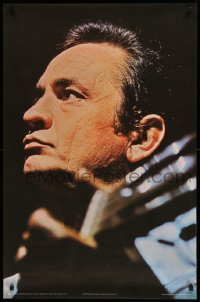 2473UF JOHNNY CASH 25x38 English commercial poster '71 cool super close up with guitar!
