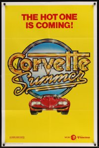 0094FF CORVETTE SUMMER teaser 1sh '78 cool different art of custom Chevrolet Corvette!