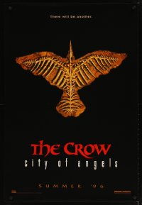 1556UF CROW: CITY OF ANGELS teaser 1sh '96 Tim Pope directed, cool image of the bones of a crow!