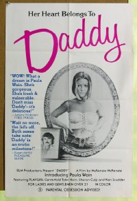 098FF DADDY one-sheet movie poster '78 sexploitation!