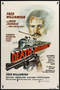1395TF DEATH JOURNEY 1sh '75 Fred Williamson, cool train and gun artwork design by Joe Smith!