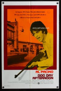 0689FF DOG DAY AFTERNOON int'l 1sh '75 different image of Al Pacino, Sidney Lumet robbery classic!