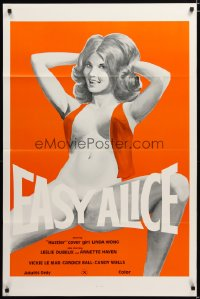 1404TF EASY ALICE 1sh '76 beyond outrageous art of near-naked Linda Wong in the title role!