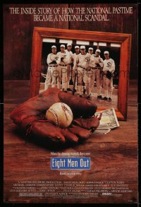 2107UF EIGHT MEN OUT 1sh '88 John Sayles, Chicago Black Sox, baseball becomes a national scandal!