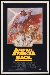 1214UF EMPIRE STRIKES BACK 1sh R81 George Lucas sci-fi classic, cool artwork by Tom Jung!