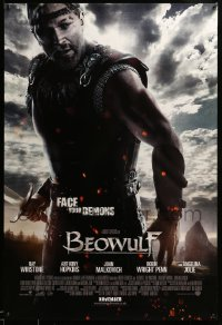 2477UF BEOWULF advance DS English 1sh '07 Winstone, directed by Robert Zemeckis, face your demons!