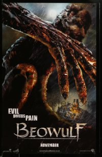 2481UF BEOWULF teaser English 1sh '07 great image of Grendel the monster, Robert Zemeckis!