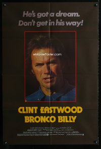 0824FF BRONCO BILLY English 1sh '80 Clint Eastwood, cool different image & tagline!
