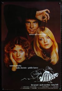0828UF SHAMPOO English 1sh '75 best close up of Warren Beatty, Julie Christie & Goldie Hawn!