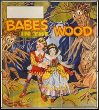 1515TF BABES IN THE WOOD stage play English 6sh '30s wonderful art of kids lost in the woods!