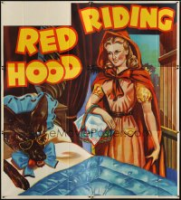 1516TF RED RIDING HOOD stage play English 6sh '30s stone litho of sexy Red with wolf trailing behind