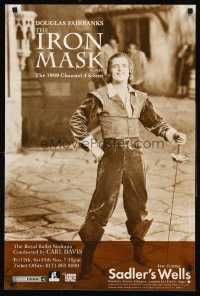 1249UF IRON MASK English double crown R99 best full-length portrait of Douglas Fairbanks, Sr!