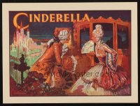 1344 CINDERELLA stage play English herald '30s Crossley art of Cinderella getting out of carriage!