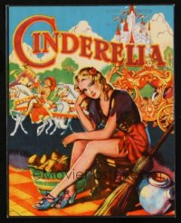1343 CINDERELLA stage play English herald '30s art of Cinderella tired of doing her chores!