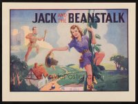 1346 JACK & THE BEANSTALK blue style stage play English herald '30s art of female Jack & giant!