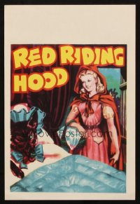 1350 RED RIDING HOOD yellow title stage play English herald '30s sexy Red visits wolf in bed!