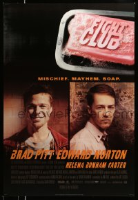 2118UF FIGHT CLUB style A advance 1sh '99 portraits of Edward Norton and Brad Pitt & bar of soap!