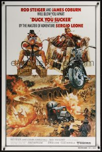 0150UF FISTFUL OF DYNAMITE int'l 1sh R80 Sergio Leone, Robert McGinnis Rod Steiger & Coburn art!