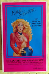 154TF FLIGHT SENSATIONS 1sh '83 John Holmes, sexy art!