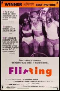 2121UF FLIRTING 1sh '92 sexy Nicole Kidman & two Australian other girls in their underwear!