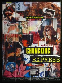 0830FF CHUNGKING EXPRESS French 1p '94 Kar Wai's Chong qing sen lin, Brigitte Lin, cool collage art!