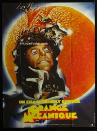 0831FF CLOCKWORK ORANGE French 1p R82 Stanley Kubrick classic, best art of Malcolm McDowell!