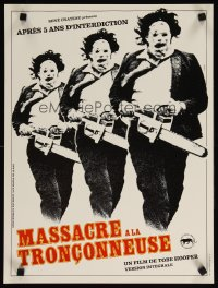 1659UF TEXAS CHAINSAW MASSACRE French 15x21 R80s Tobe Hooper cult classic, 3 images of Leatherface!