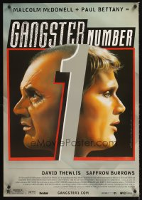 1217UF GANGSTER NUMBER 1 DS 1sh '02 art of Malcolm McDowell & Paul Bettany by Philip Castle!