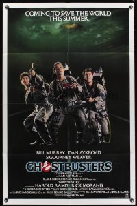 0936FF GHOSTBUSTERS advance 1sh '84 Bill Murray, Aykroyd & Harold Ramis are here to save the world!