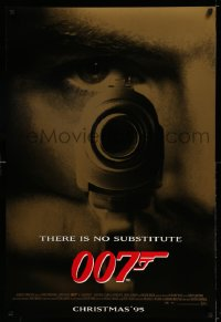 2134UF GOLDENEYE advance DS 1sh '95 Pierce Brosnan as James Bond 007, cool gun & eye close up!
