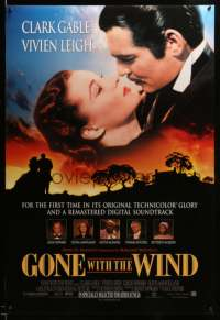 2136UF GONE WITH THE WIND advance DS 1sh R98 Clark Gable, Vivien Leigh, digitally remastered classic