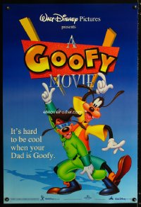 0705UF GOOFY MOVIE DS blue 1sh '95 Walt Disney cartoon, it's hard to be cool when your dad is Goofy!