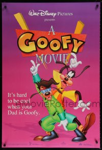2138UF GOOFY MOVIE DS purple 1sh '95 Walt Disney, it's hard to be cool when your dad is Goofy!