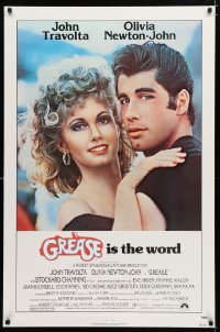 0175UF GREASE 1sh '78 close up of John Travolta & Olivia Newton-John in a most classic musical!