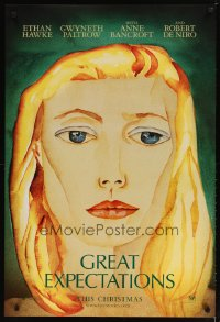 1572UF GREAT EXPECTATIONS teaser DS 1sh '98 cool art of Gwyneth Paltrow, Charles Dickens