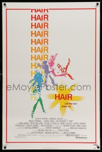 2145UF HAIR 1sh '79 Milos Forman musical, Treat Williams, let the sun shine in!